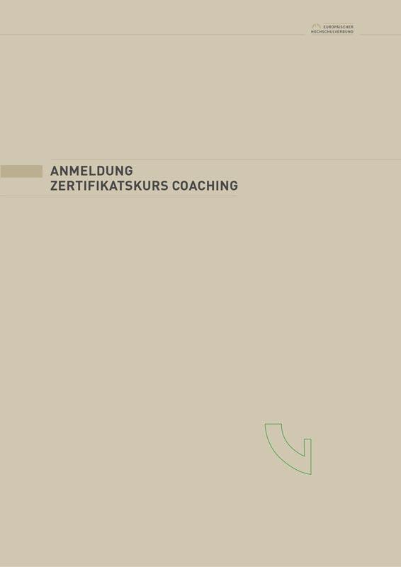 Antrag Zertifikatskurs Coaching