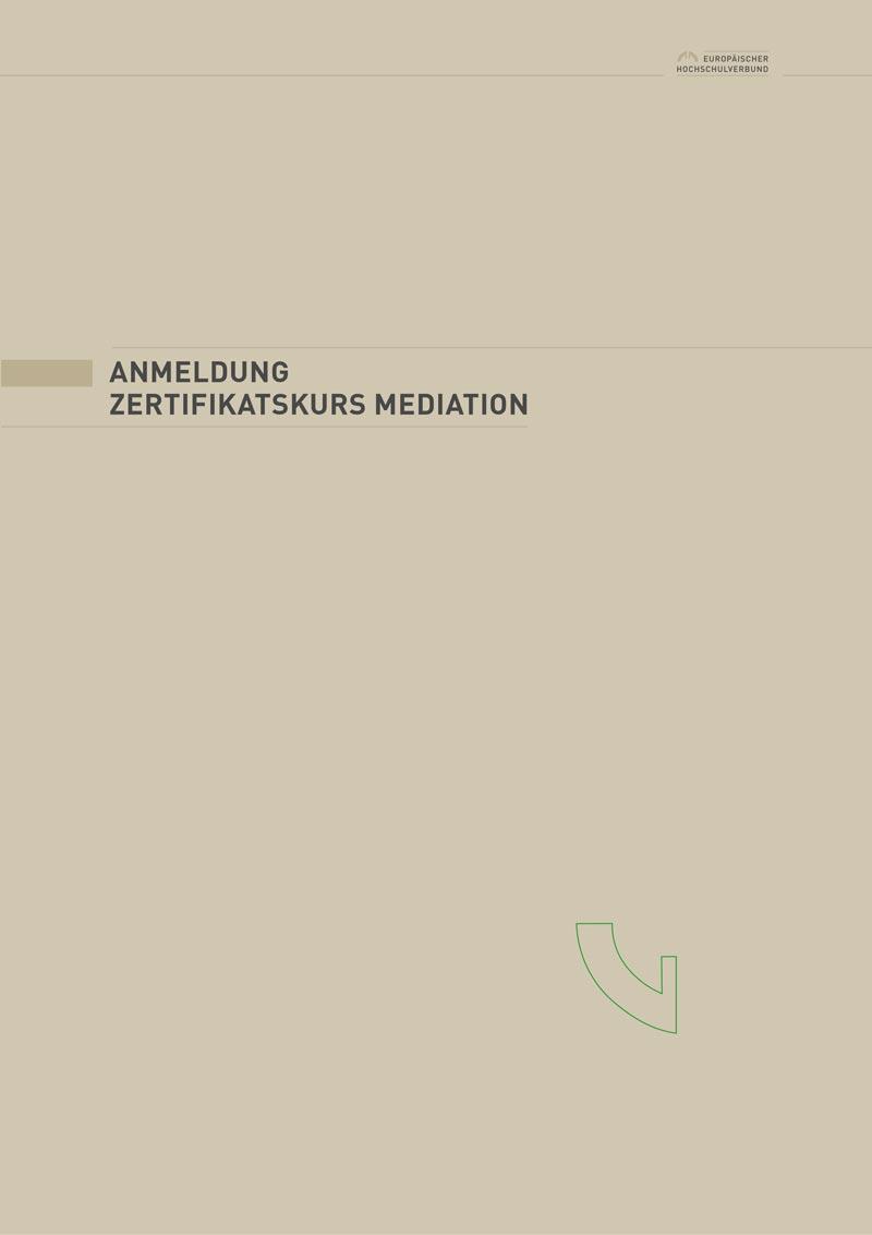 Antrag Zertifikatskurs Mediation