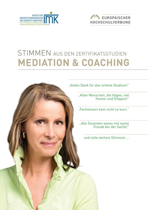 Stimmen aus den Zertifikatsstudien Mediation und Coaching